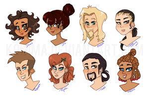 Project Hero Heads 1 by kashewbeans