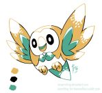 DD - Gen2 Color Rowlet by TamarinFrog