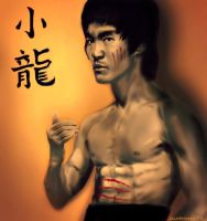 Bruce Lee - 'Little Dragon' by geekyglassesartist