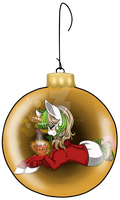 Ornament Ponies: Vanilla Latte by MagicaRin