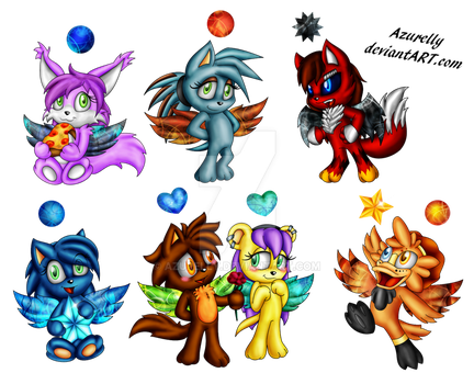Chao commission batch 03 by Azurelly