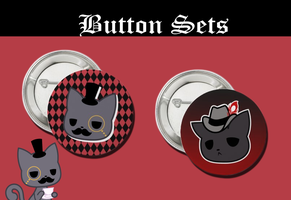 TheFancyKitty Button Sets by FantasyYume