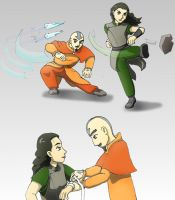 Lin and Tenzin 'old times' by Bizmarck