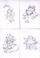 Pokemon request sketches 4 by Paperiapina