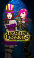 League of Legends Caitlyn and Vi by sharrm