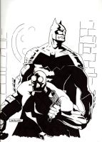 Batman and Hellboy_final by StevenWilcox
