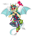 Trickster Dragon Girl by Ruby-Orca-616