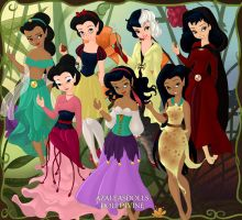Raven Haired Disney Girls by 1999317
