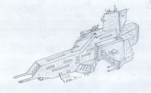 Phalanx Class Destroyer by rafenrazer