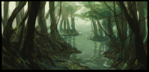 swamp by anticline-art