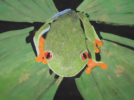 Acrylic Frog by lilrach66