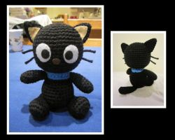 Mini Crocheted Chococat by aphid777