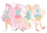 pearl - alternate character designs by fishervk