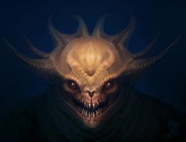 Demon's face (remake old work) by juannahuel