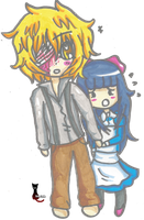 Chibi - Dio and Aya by RavenThalia