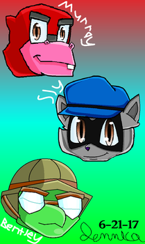 Sly Cooper and the Gang (in...) by Mimicat16