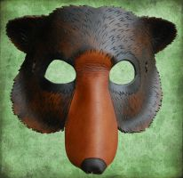 Leather Bear Mask by ContessaEsselia