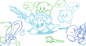 iS Sketches ~ Kirby by clariecandy