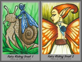 ATC - Fairy Riding Snail (both available) by spaceship505