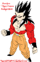 Gohan SSJ4 Colored Preview by JamalC157