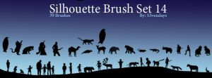 Silhouette Brush Set 14 by s3vendays