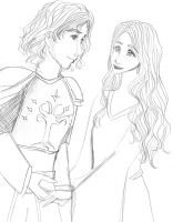 Eowyn and Faramir by prongs07