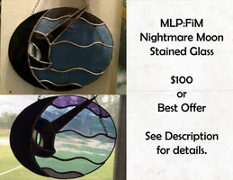 Nightmare Moon Stained Glass by Umbra-Neko