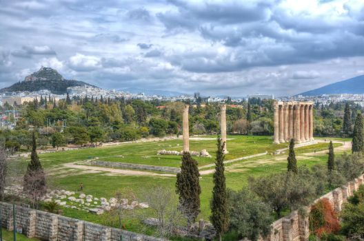 Temple of Olympian Zeus by StamatisGR