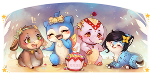 Spring March - Chibi Commission by clover-teapot