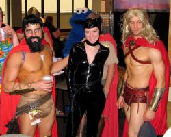 DC2007 - Spartans and Catwoman by SchroTN