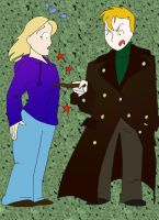 Barty Crouch and Rose Tyler by Gallifery