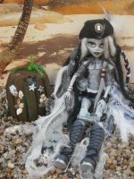 Monster high custom repaint  Davina undead pirate by Rach-Hells-Dollhaus