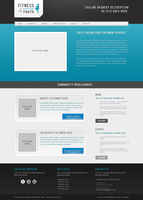 Web Mockup for Friend's Org by vanessabanessa89