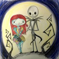 Cute Jack and Sally by Lyxy