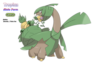Tropius - Alola Form by locomotive111