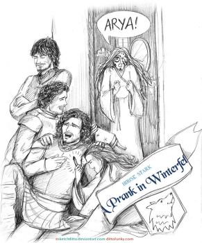 A Prank in Winterfell 02 by sketchditto
