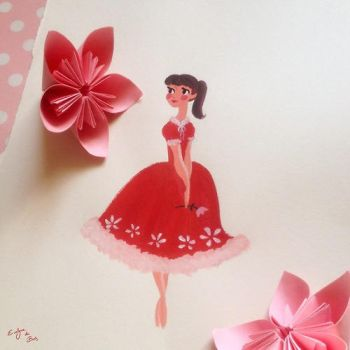 Flowergirl painting by Blossomeve