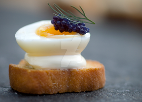Quail's Egg and Caviar by iconsPhotography