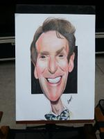 Caricature of Bill Nye (completed) by bakaneko-kun