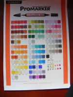 My Promarker chart Requested by Celine-C by RaelXArts