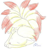 Snoozing Ninetales by fangs211