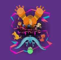 Bravest Warriors Tee Design by JustinSels