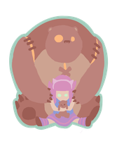 Annie and Tibbers by LuluDubYou