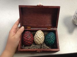 Game of Thrones Inspired Dragon Eggs w/Box by ReOfSun