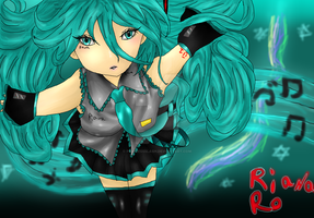 Miku Hatsune (Redone from my 2013) by princessslash