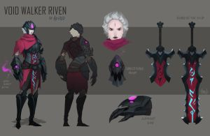 Voidwalker Riven skin idea by Artsed