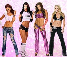 Former WWE Divas Pink by SonyaLeonhart