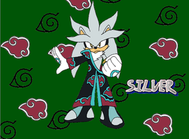 Silver the Hedgehog - Akatsuki by Tails19950