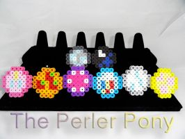 My Little Pony Perler Minimalist Cutie Mark Rings by Perler-Pony