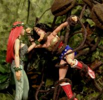 Poison Ivy vs Wonder Woman by billvolc